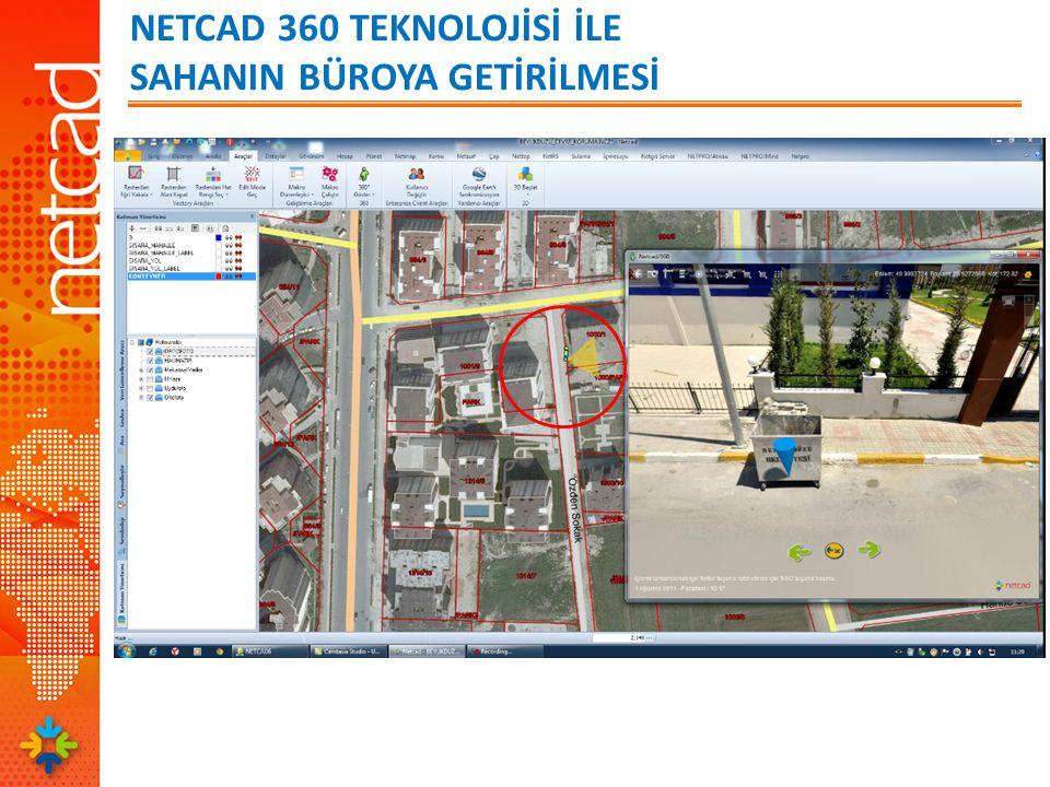 NETCAD 360 TEKNOLOJİSİ İLE SAHANIN BÜROYA GETİRİLMESİ