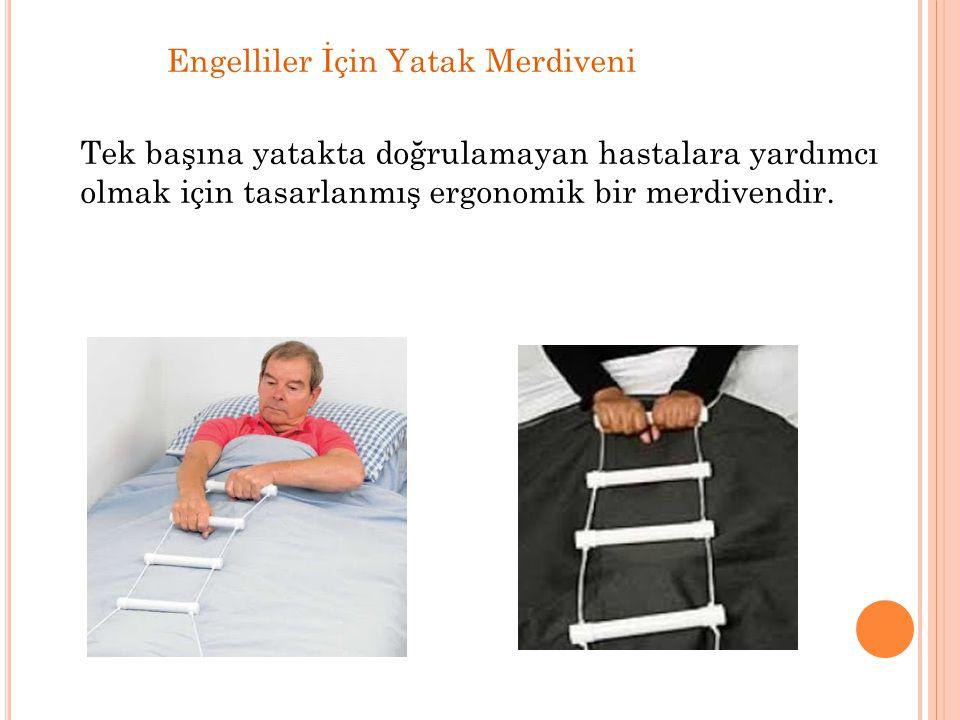 Engelliler İçin Yatak Merdiveni Tek başına yatakta doğrulamayan hastalara yardımcı olmak için tasarlanmış ergonomik bir merdivendir.