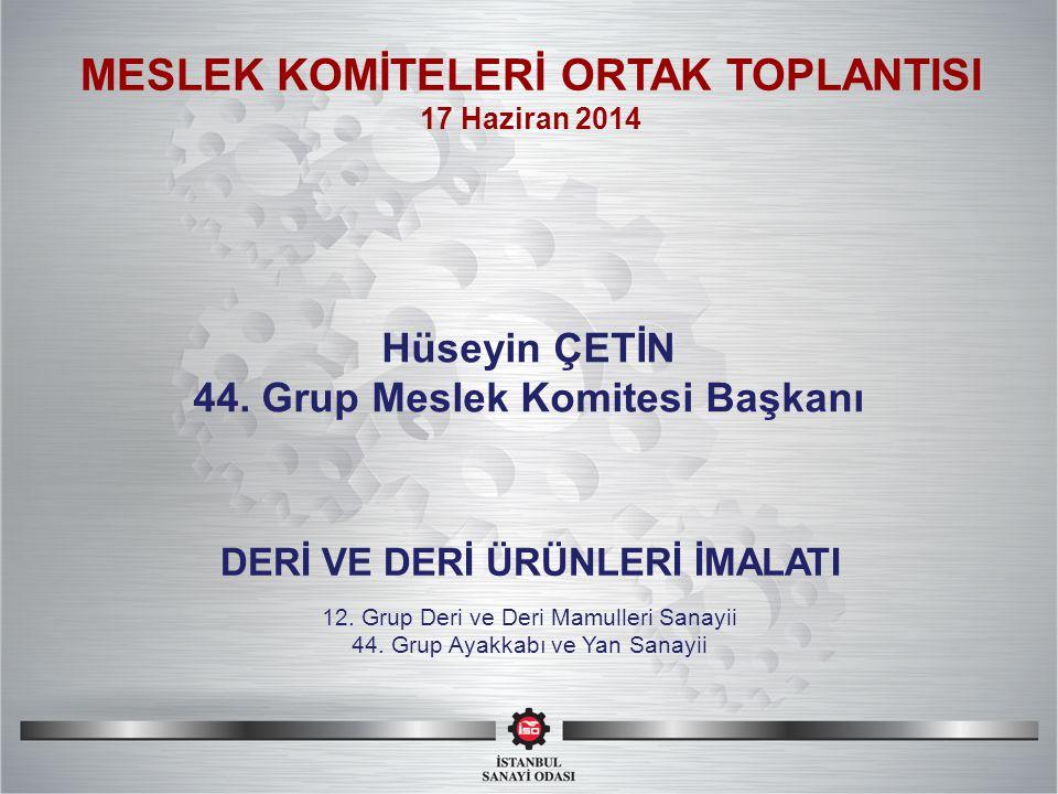 SI MESLEK KOMİTELERİ ORTAK TOPLANTISI Hüseyin ÇETİN 44.