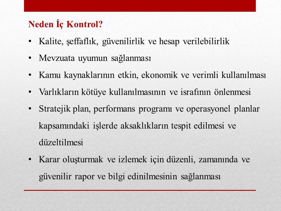 Bakanlık Merkez İç Kontrol Uygulamaları İç kontrol sisteminin uygulanması amacıyla, Maliye Bakanlığı Kamu İç Kontrol Standartlarına Uyum Eylem Planı (Merkez İKEP) 03/05/2010 tarihinde yürürlüğe girmiştir.