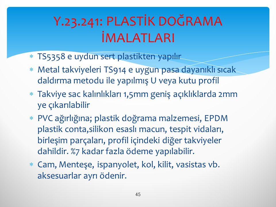  TS5358 e uydun sert plastikten yapılır  Metal takviyeleri TS914 e uygun pasa dayanıklı sıcak daldırma metodu ile yapılmış U veya kutu profil  Takv