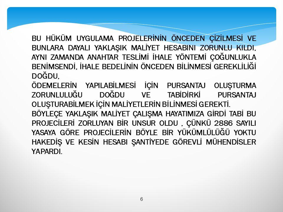  Y.16.050/01 -16.062/13 : Beton imalatları  Y.16.072/02 – Y.16.072/06 : Zemin iyileştirme ( Jet grout)  16.080/MK – 17.191/MK : Bordür, taş, blokaj, parke taşı  18.351/MK – 18.354/A/MK : Madeni dilatasyon  18.361 – Y.19.085/012: Her türlü ısı ve su yalıtımı  19.087 – 19.103/4C : beton katkı işleri  21.001 – 21.276 : Kalıp işleri İMALATLARIN POZ ARALIKLARI 77