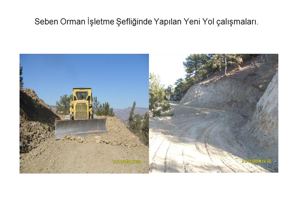 Seben Orman İşletme Şefliğinde Yapılan Yeni Yol çalışmaları.