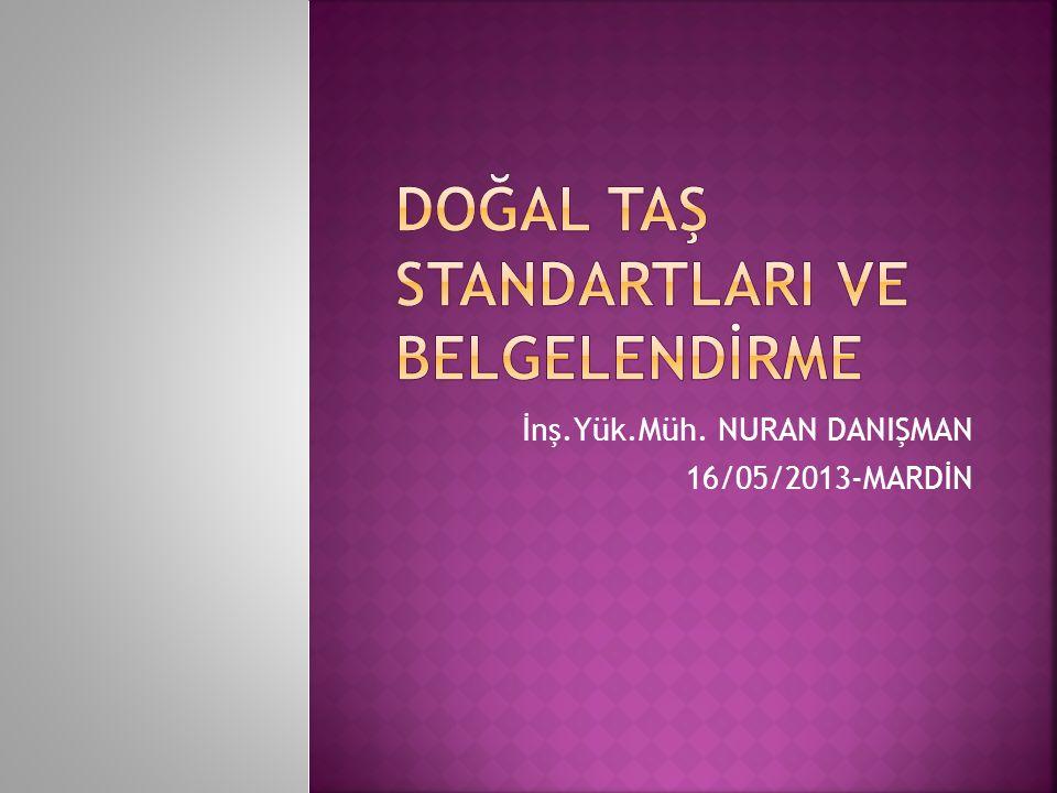 İnş.Yük.Müh. NURAN DANIŞMAN 16/05/2013-MARDİN