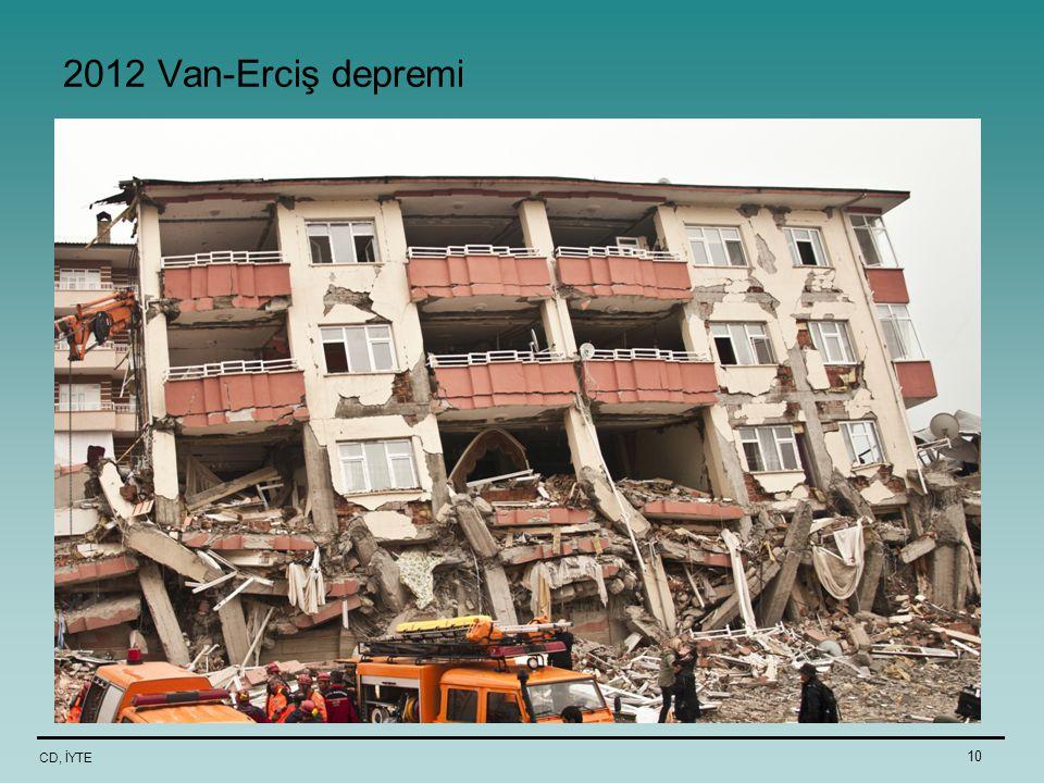CD, İYTE 10 2012 Van-Erciş depremi