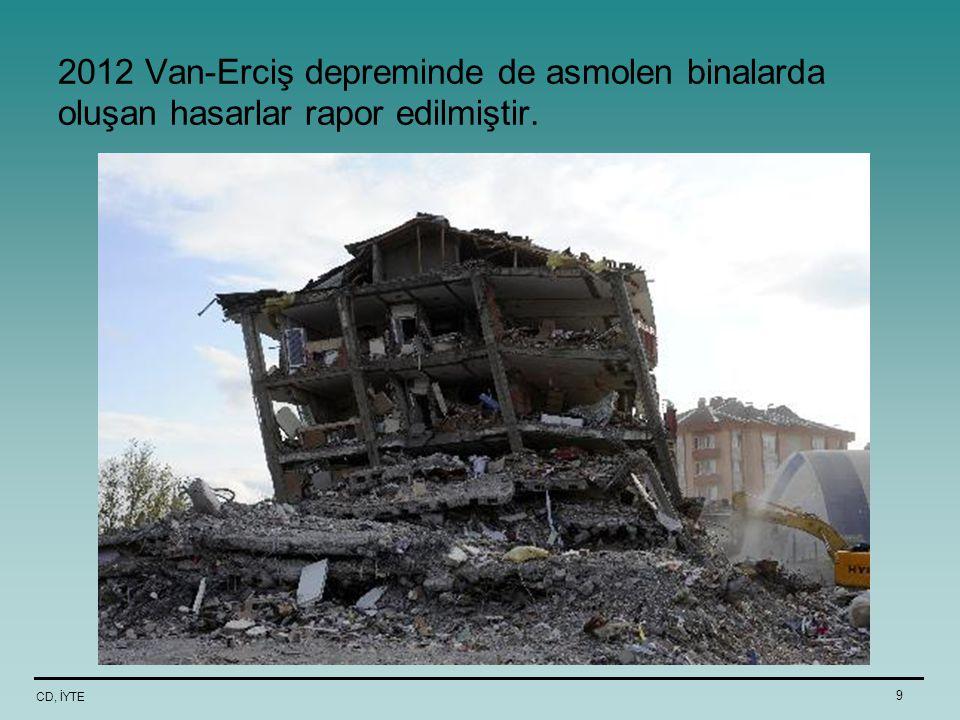 CD, İYTE 9 2012 Van-Erciş depreminde de asmolen binalarda oluşan hasarlar rapor edilmiştir.