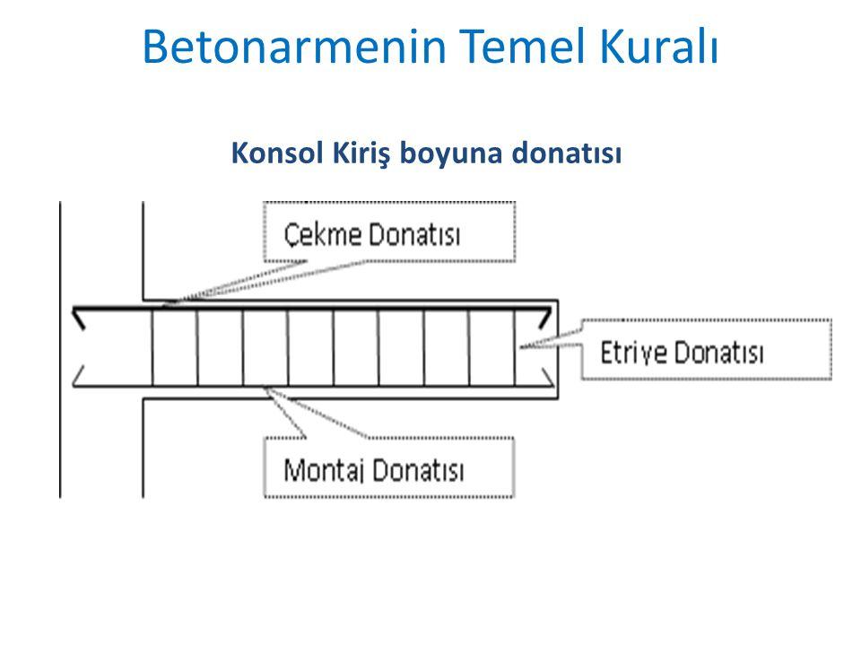 Konsol Kiriş boyuna donatısı Betonarmenin Temel Kuralı