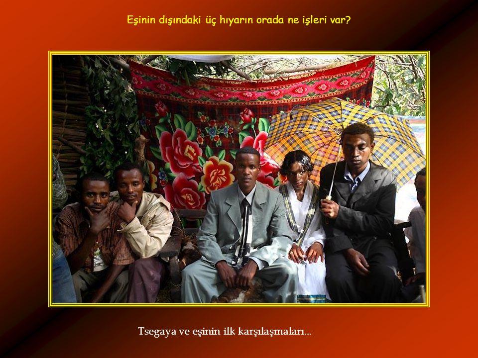 Tsegaya ve eşinin ilk karşılaşmaları... Eşinin dışındaki üç hıyarın orada ne işleri var?