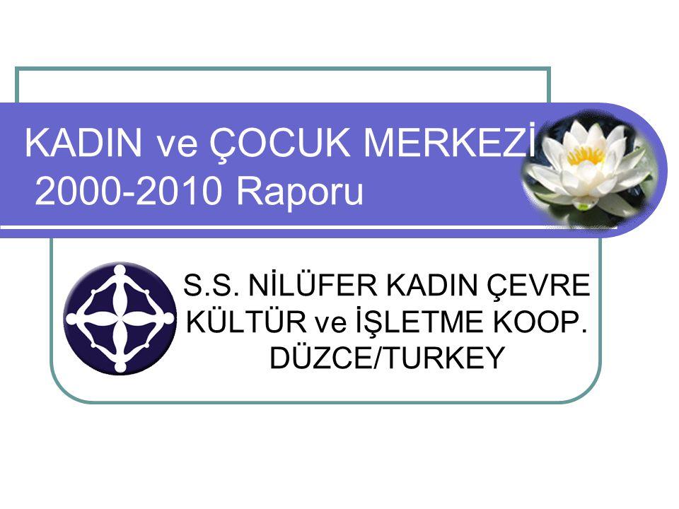 S.S. NİLÜFER KADIN ÇEVRE KÜLTÜR ve İŞLETME KOOP. DÜZCE/TURKEY KADIN ve ÇOCUK MERKEZİ 2000-2010 Raporu