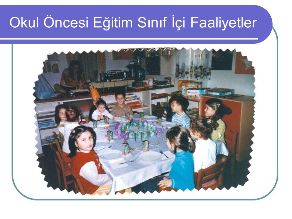 Okul Öncesi Eğitim Sınıf İçi Faaliyetler
