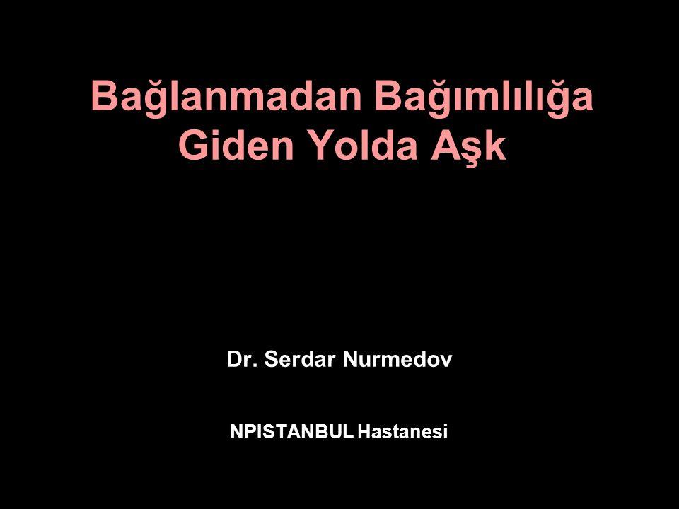 Bağlanmadan Bağımlılığa Giden Yolda Aşk Dr. Serdar Nurmedov NPISTANBUL Hastanesi