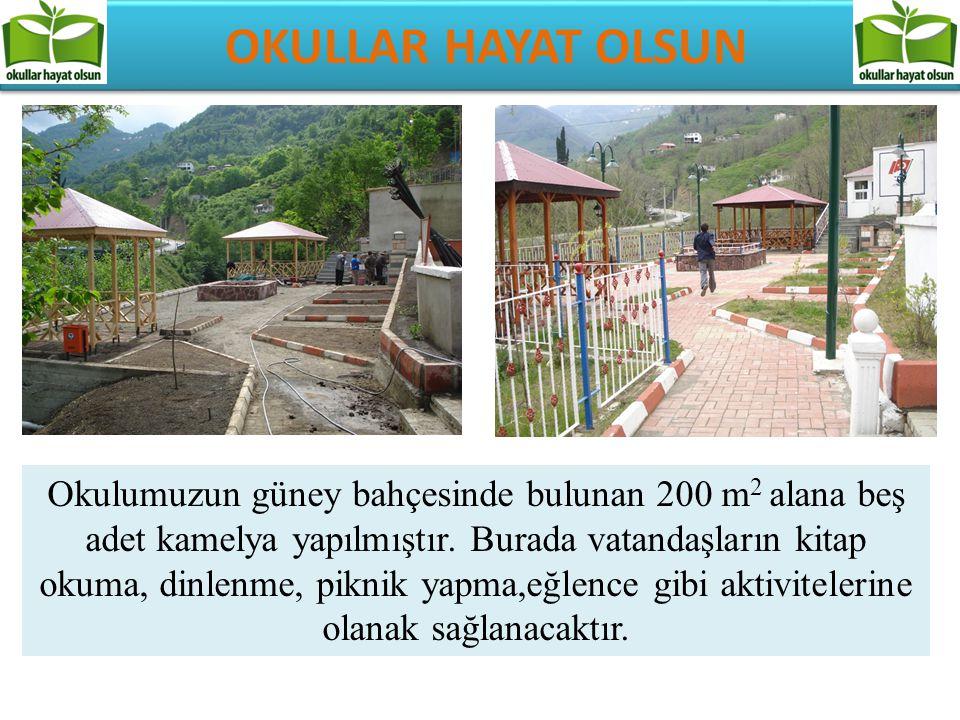 OKULLAR HAYAT OLSUN Okulumuzun girişinde ön bahçede bulunan 150 m 2 alana çocuklar için oyun parkı yapılmıştır.