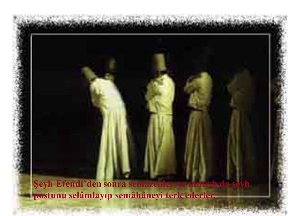 """Allah'ın adı olan """"Hû"""" nidâları ile son selamlaşmalarla Semâ' Töreni sona erer."""