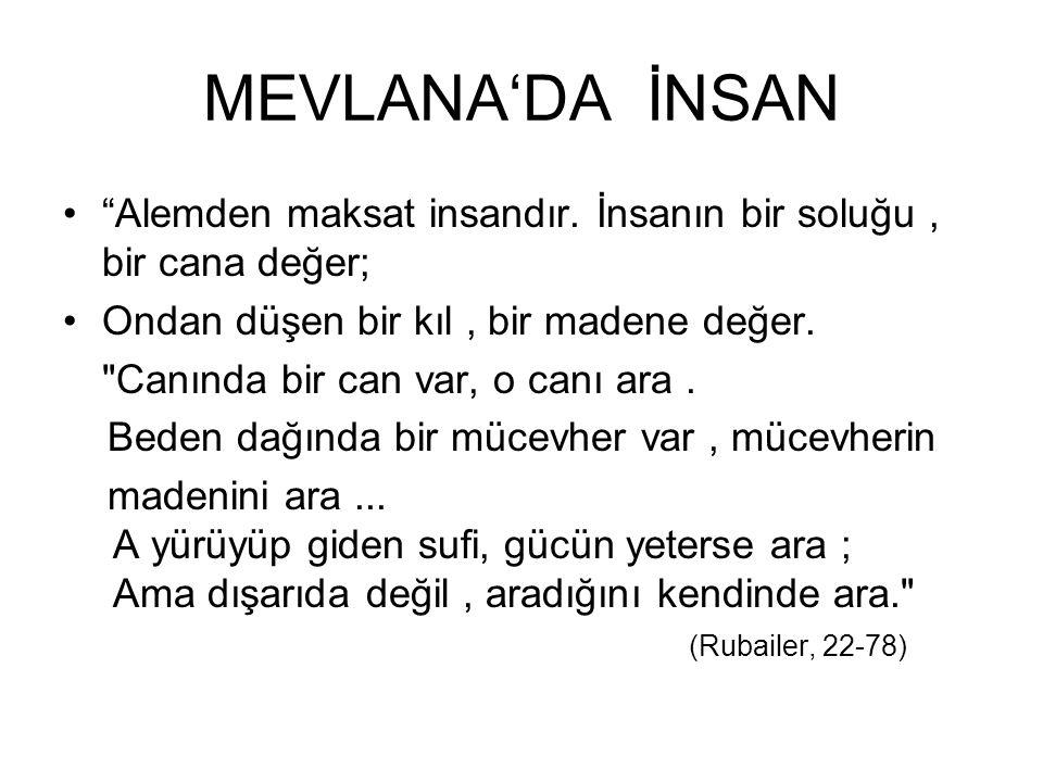ESERLERİ Mesnevi Divan-ı Kebir Fihi-Mâfîh Mektûbât Mecâlis-î Seb'a