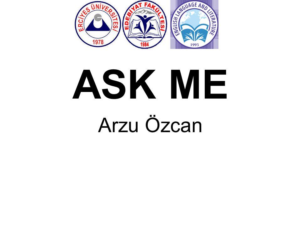 ASK ME Arzu Özcan