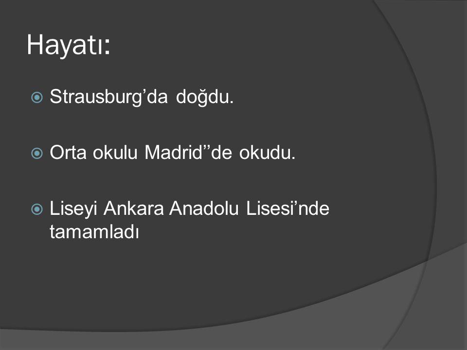 Eserleri:  Bit Palas(2002)  Araf(2004)  Beşpeşe(2004)  Bit Palas(2002)  Araf(2004)  Beşpeşe(2004)