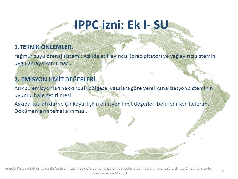 12 Angela Pérez Rizaldos Area de Control Integrado de la contaminación. Consejería de medio ambiente y ordenación del territorio- Comunidad de Madrid
