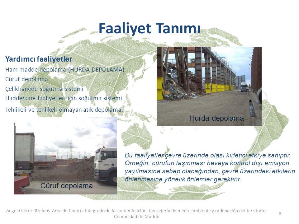 6 Angela Pérez Rizaldos Area de Control Integrado de la contaminación. Consejería de medio ambiente y ordenación del territorio- Comunidad de Madrid Y