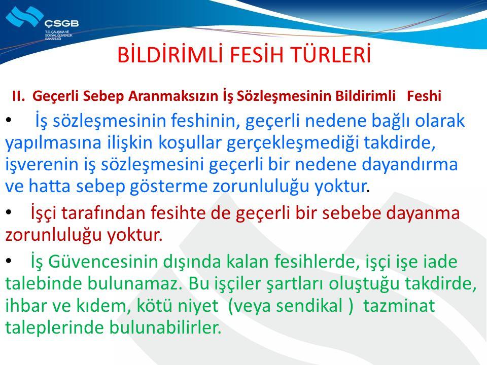 BİLDİRİMLİ FESİH TÜRLERİ II.