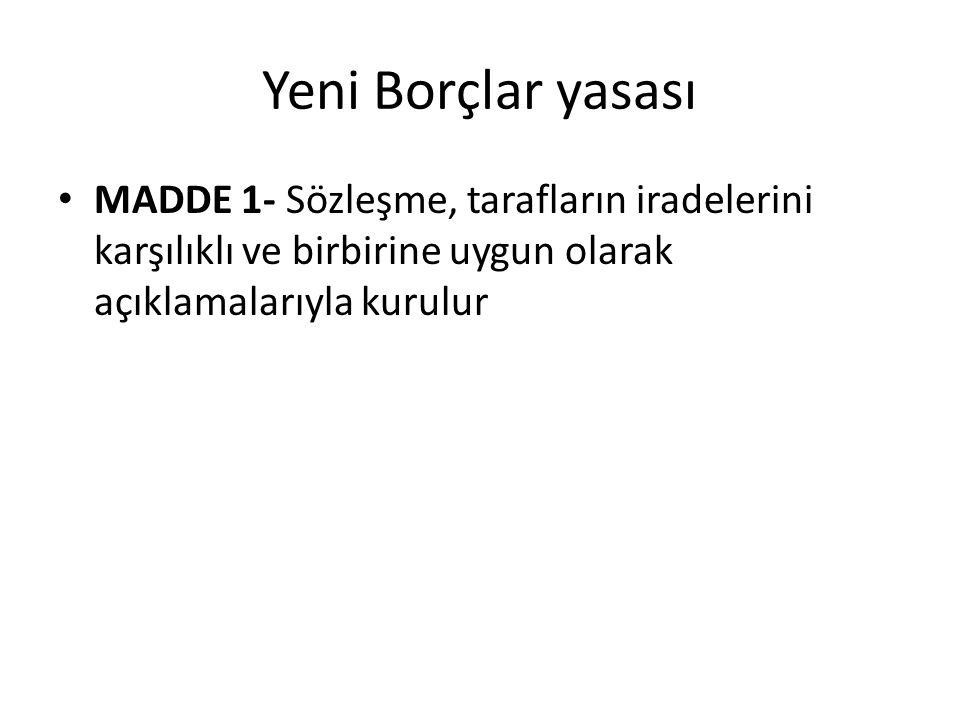 SÖZLEŞME SERBESTLİĞİNİN SINIRLANDIRILMASI 1.