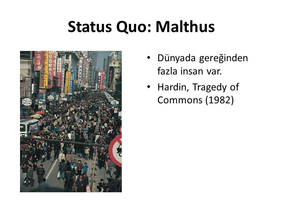 Status Quo: İklim değişikliği Dünyada gereğinden fazla ülke var.