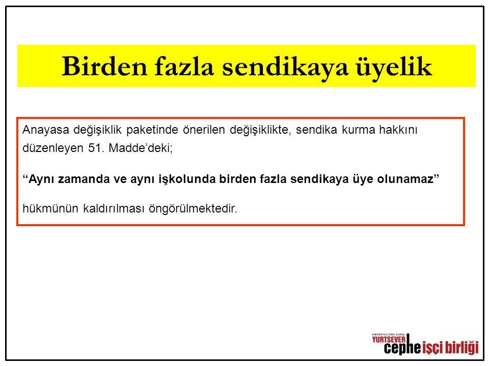 AKP'DEN HESABI EMEKÇİLER SORACAK İKİNCİ 12 EYLÜL'DE DE