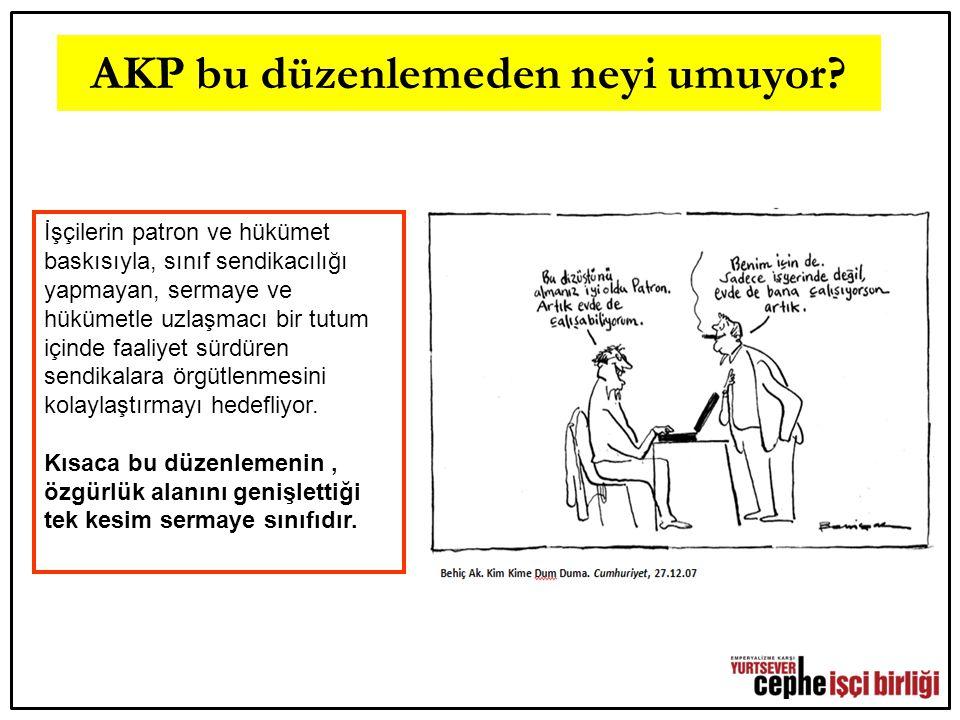 Sonuç yerine… AKP, 12 Eylül Anayasası'na yaptığı rötuşlarla emek düşmanı yüzünü bir kez daha açığa vurmaktadır.
