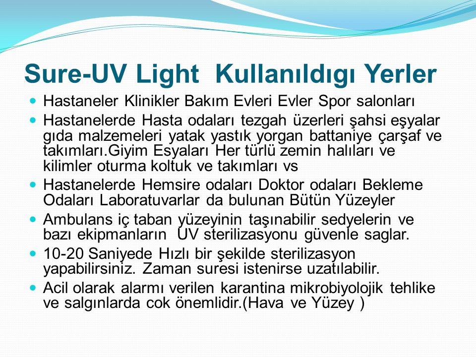 Sure-UV Light Kullanıldıgı Yerler Evlerde Kullanımı Oldukça Yaygın bir şekilde olur.