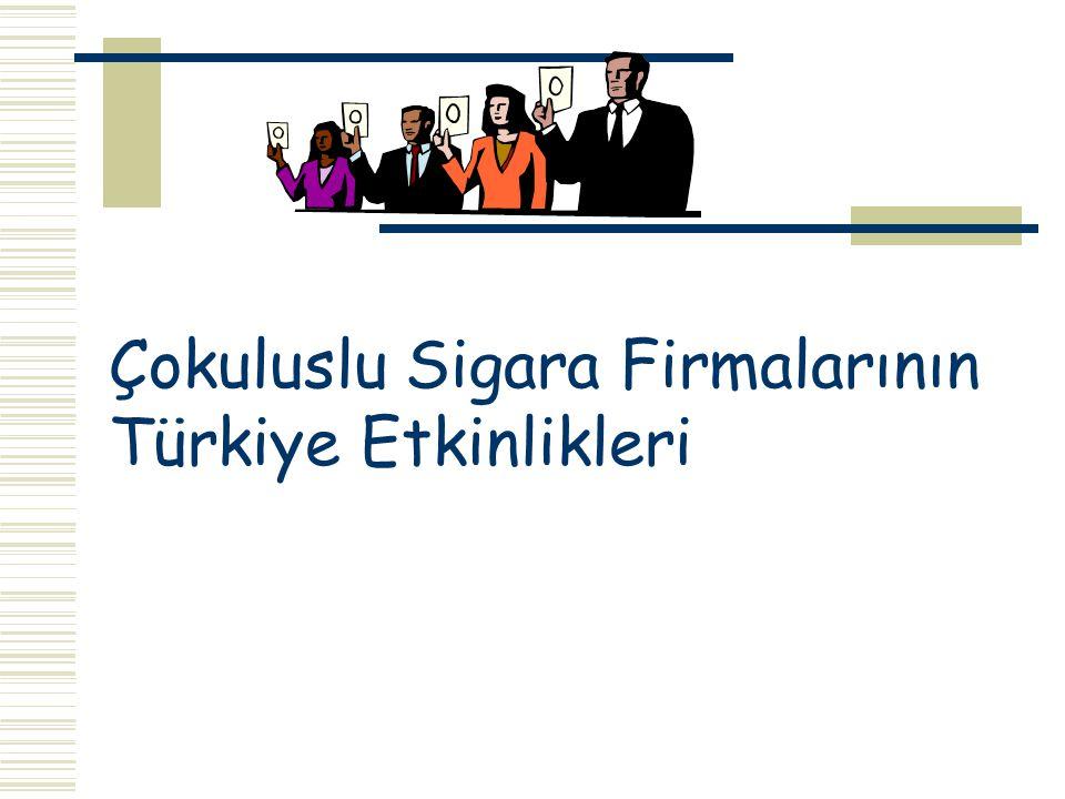 Çokuluslu Sigara Firmalarının Türkiye Etkinlikleri