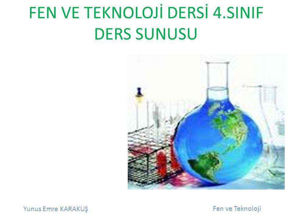 Yunus Emre KARAKUŞ Fen ve Teknoloji Ünitemiz: Maddeyi Tanıyalım Konu: Maddenin Ölçülebilir Özellikleri