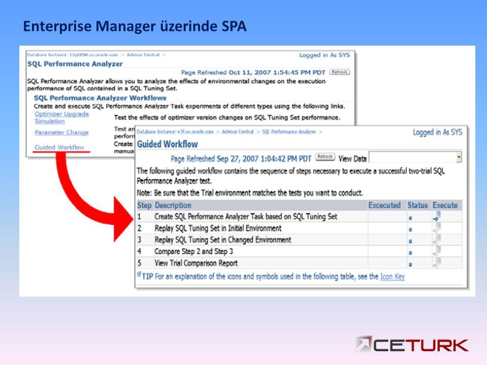 Enterprise Manager üzerinde SPA