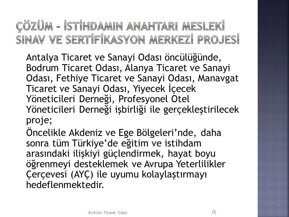 Antalya Ticaret ve Sanayi Odası öncülüğünde, Bodrum Ticaret Odası, Alanya Ticaret ve Sanayi Odası, Fethiye Ticaret ve Sanayi Odası, Manavgat Ticaret v