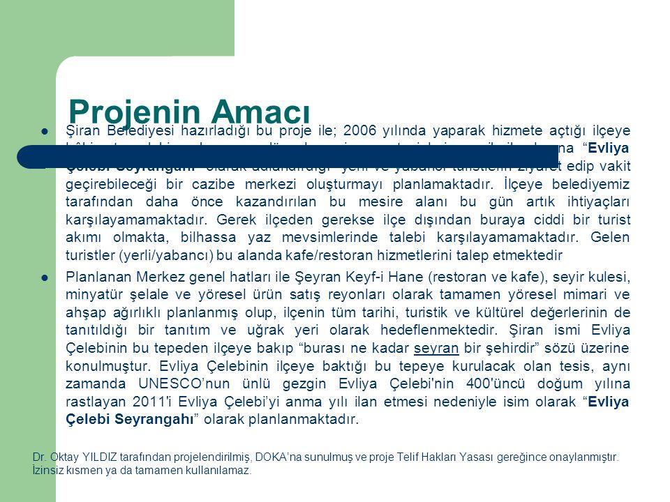Projenin Amacı Dr. Oktay YILDIZ tarafından projelendirilmiş, DOKA'na sunulmuş ve proje Telif Hakları Yasası gereğince onaylanmıştır. İzinsiz kısmen ya