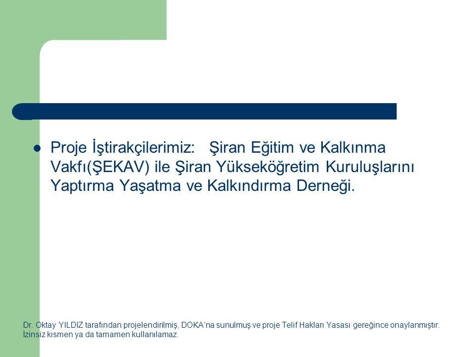 Dr. Oktay YILDIZ tarafından projelendirilmiş, DOKA'na sunulmuş ve proje Telif Hakları Yasası gereğince onaylanmıştır. İzinsiz kısmen ya da tamamen kul