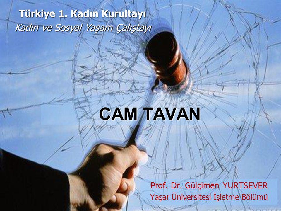 Prof. Dr. Gülçimen YURTSEVER Yaşar Üniversitesi İşletme Bölümü CAM TAVAN Türkiye 1. Kadın Kurultayı Kadın ve Sosyal Yaşam Çalıştayı