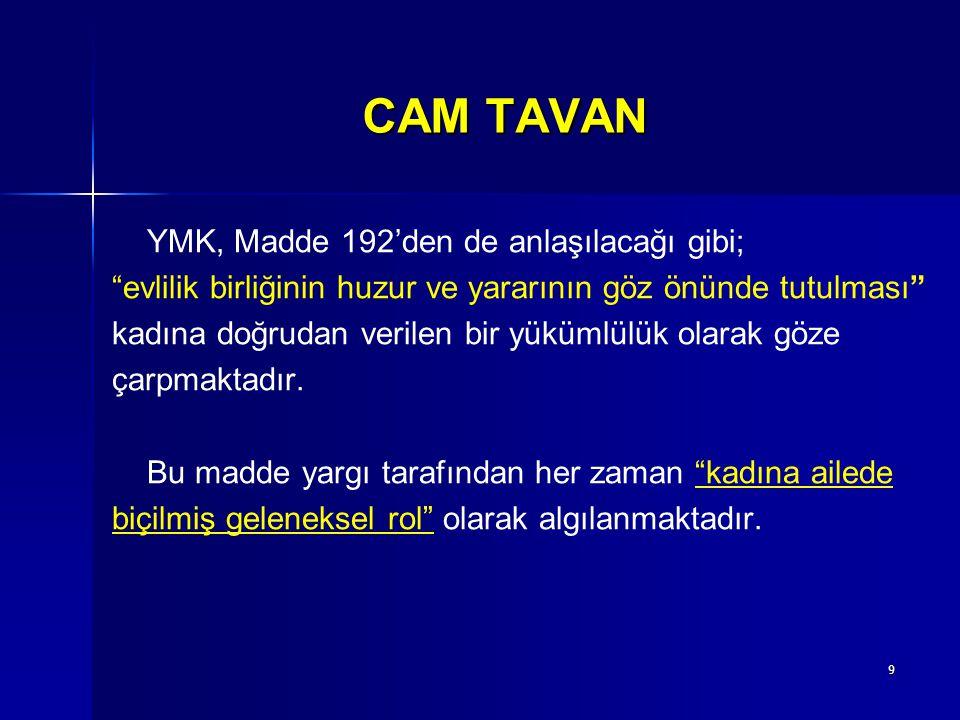 10 CAM TAVAN 2.Kültürel engeller Kadının ilerlemesinde en önemli engeldir.