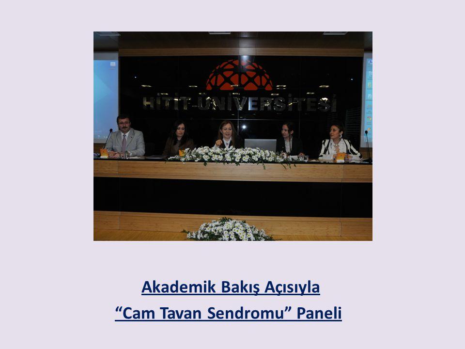 Akademik Bakış Açısıyla Cam Tavan Sendromu Paneli