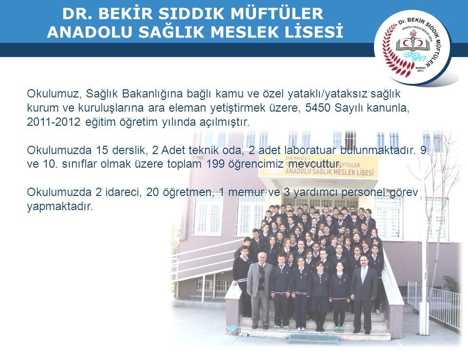 www.thmemgallery.com Okulumuz, Sağlık Bakanlığına bağlı kamu ve özel yataklı/yataksız sağlık kurum ve kuruluşlarına ara eleman yetiştirmek üzere, 5450 Sayılı kanunla, 2011-2012 eğitim öğretim yılında açılmıştır.