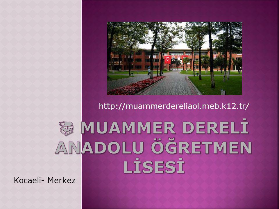 http://muammerdereliaol.meb.k12.tr/ Kocaeli- Merkez
