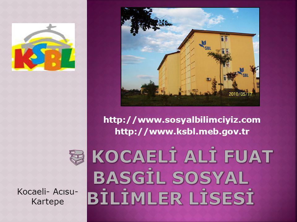 http://www.ksbl.meb.gov.tr http://www.sosyalbilimciyiz.com Kocaeli- Acısu- Kartepe
