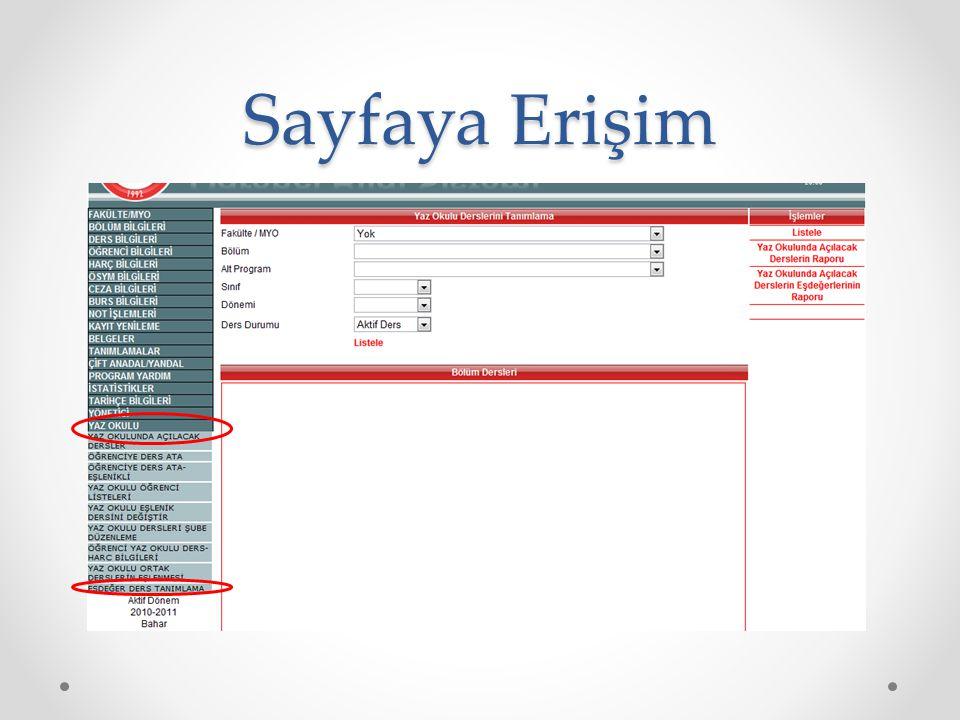 Sayfaya Erişim
