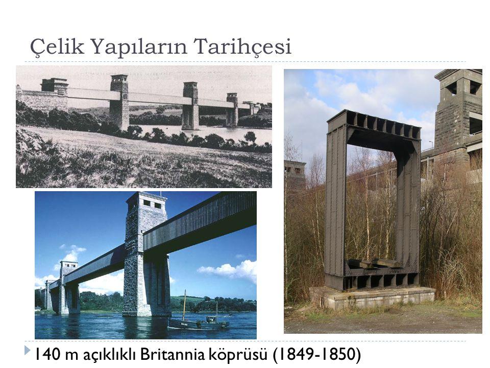  İ lk kutu kirişler, 1849-1850 yıllarında Galler deki Menai bo ğ azı üstüne Britannia köprüsünü kuran Robert Stephenson tarafından kullanıldı.