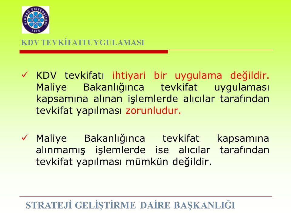 KDV tevkifatı ihtiyari bir uygulama değildir. Maliye Bakanlığınca tevkifat uygulaması kapsamına alınan işlemlerde alıcılar tarafından tevkifat yapılma
