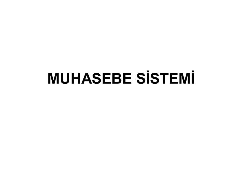 MUHASEBE SİSTEMİ