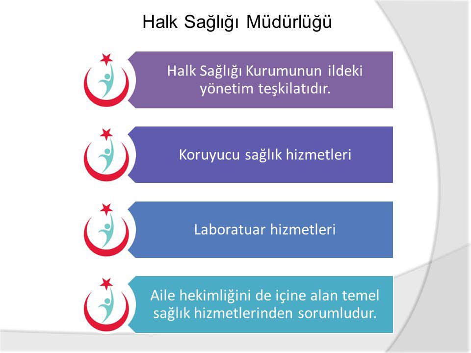 Halk Sağlığı Kurumunun ildeki yönetim teşkilatıdır. Koruyucu sağlık hizmetleri Laboratuar hizmetleri Aile hekimliğini de içine alan temel sağlık hizme