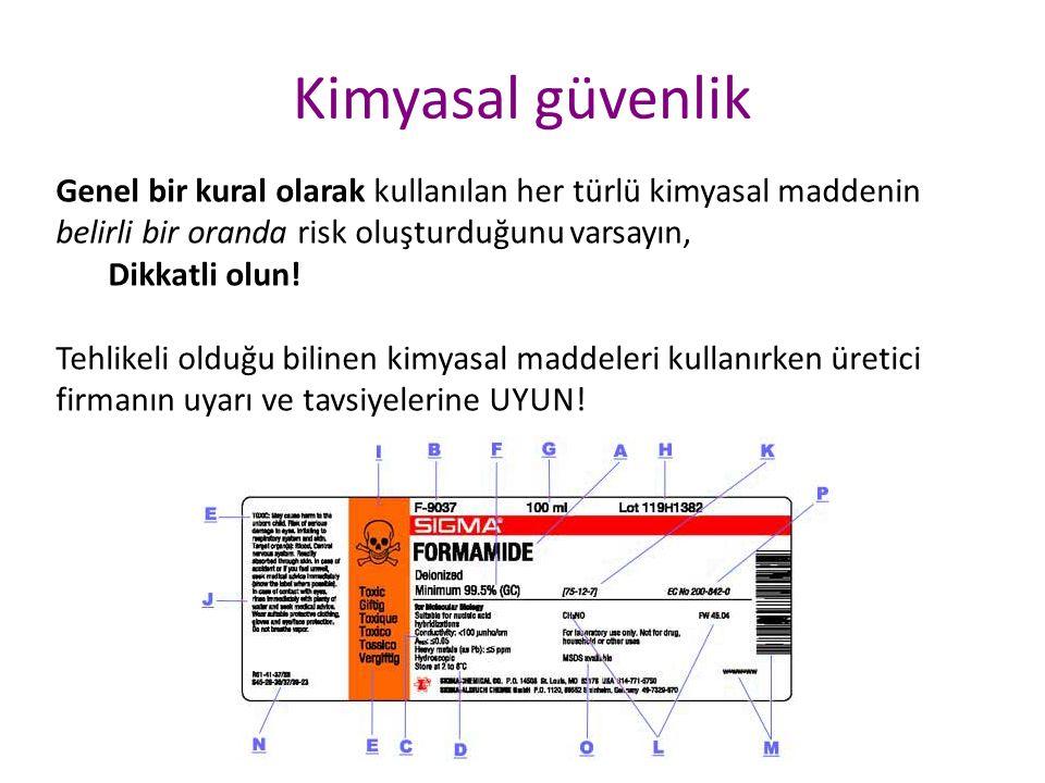 Ürün Güvenlik Bilgi Formu (Material Safety Data Sheet)