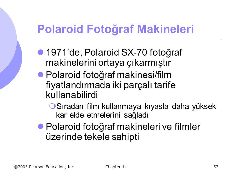 ©2005 Pearson Education, Inc. Chapter 1157 Polaroid Fotoğraf Makineleri 1971'de, Polaroid SX-70 fotoğraf makinelerini ortaya çıkarmıştır Polaroid foto