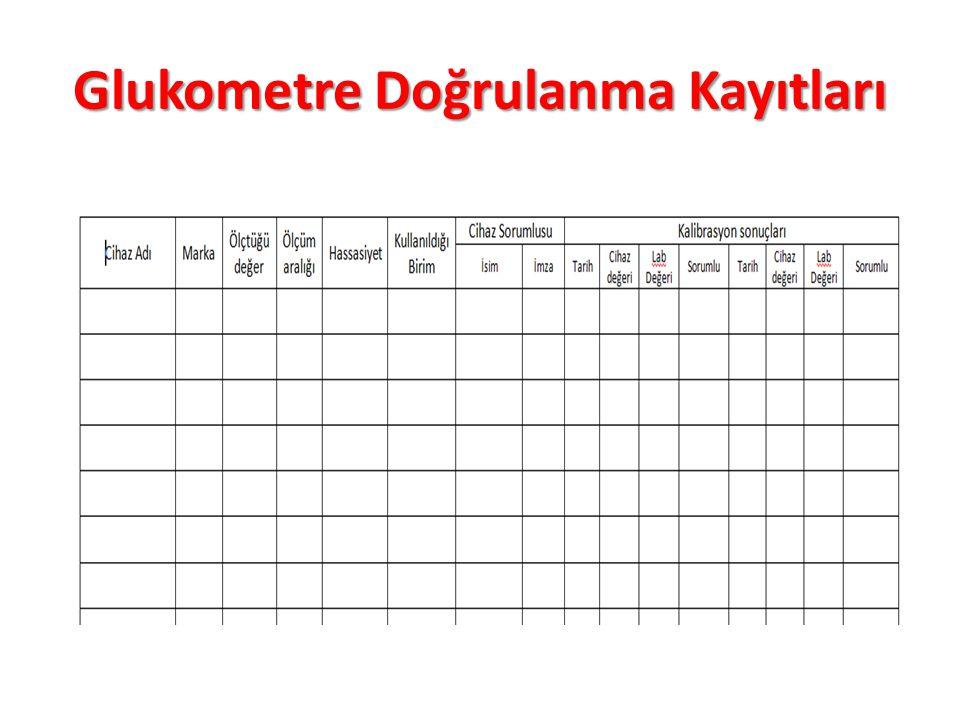 Glukometre Doğrulanma Kayıtları