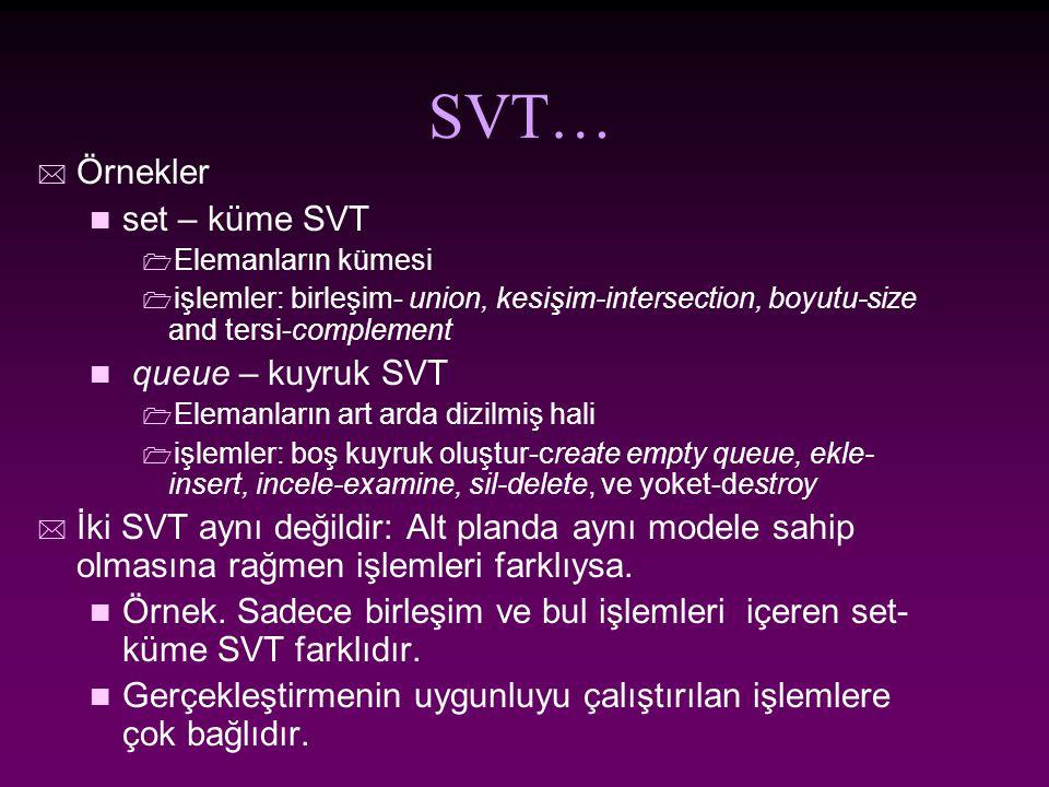 Avantaj ve Dezavantajları SVTlerinin kullanımı, gerçekleştirmesinden ayrıdır/ ayrılır.