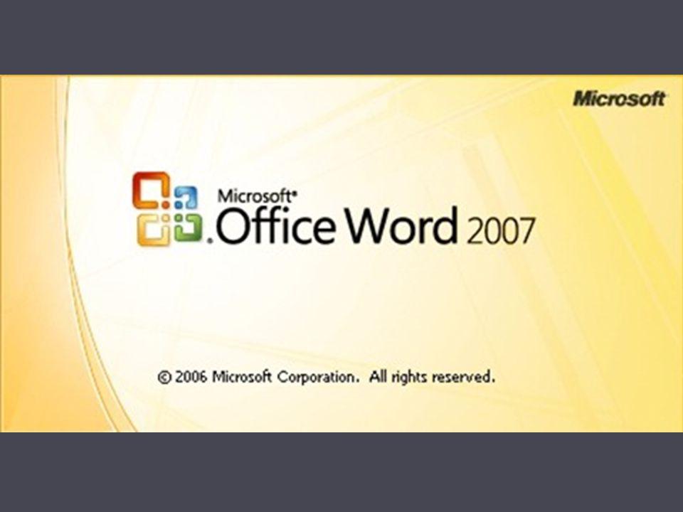 Programın çalıştırılması  Başlat (Start) > Programlar (Programs) > Microsoft Office > Microsoft Word 2007 seçene ğ i seçilir.